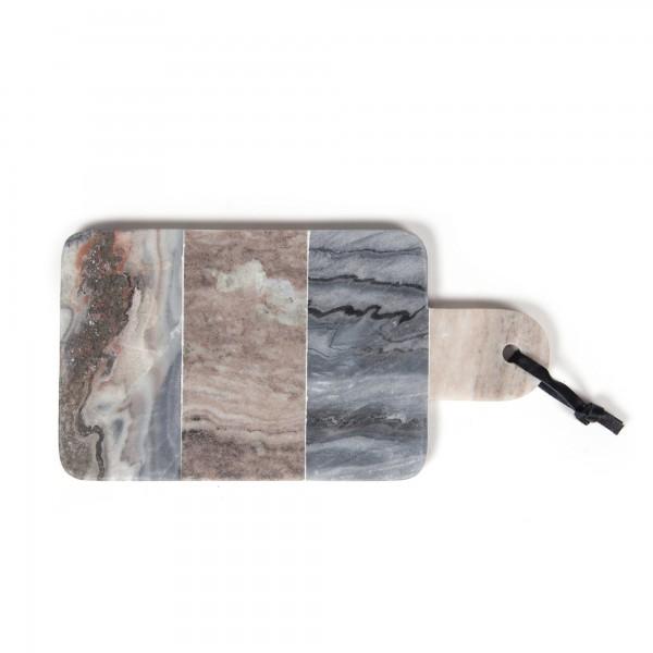 """Schneidebrett """"Mahati"""", aus Marmor, grau, L 15 cm, B 30 cm"""