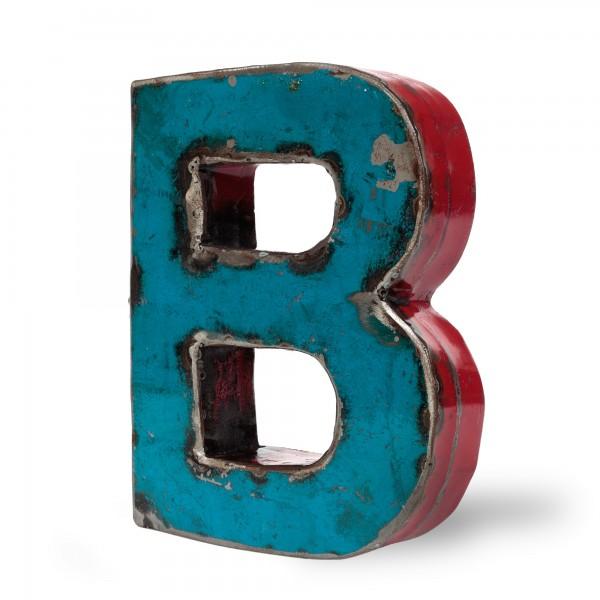 Metallbuchstabe 'B', multicolor, T 16 cm, B 20 cm, H 4 cm