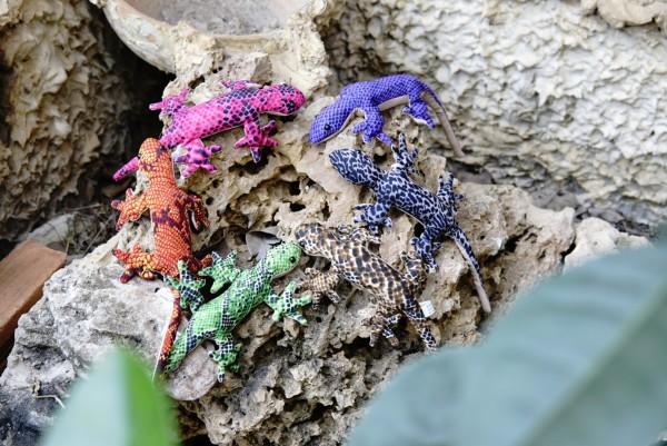 Sandtier 'Gecko' S, multicolor, L 11 cm
