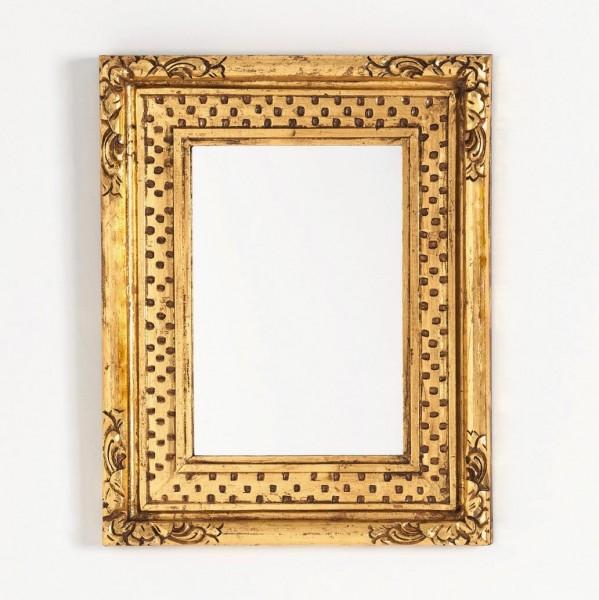 Spiegel rechteckig, gold, L 40 cm, B 50 cm