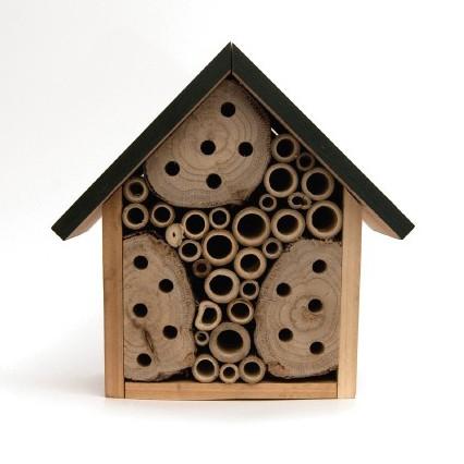 Insekten-Gasthaus aus Fichtenholz und Bambus, B 19 cm, H 19 cm