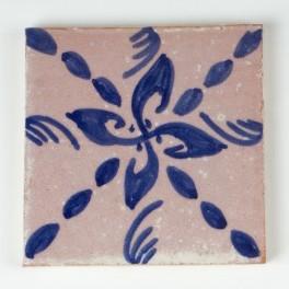 "Fliese ""Moulin bleu"", blau/weiß, L 10 cm, B 10 cm, H 1 cm"