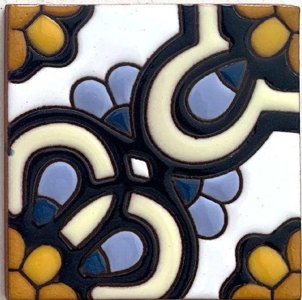 Reliefkachel 'Ensenada', multicolor, T 10 cm, B 10 cm, H 0,5 cm