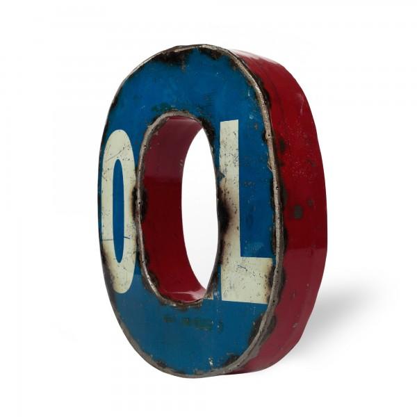 Metallbuchstabe 'O', multicolor, T 17 cm, B 20 cm, H 4 cm