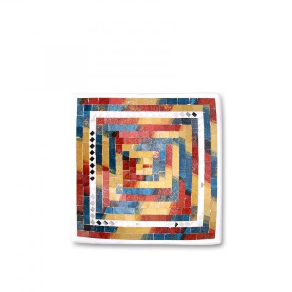 """Mosaikteller """"Monet"""", Größe S, L 20 cm, B 20 cm, H 4 cm"""
