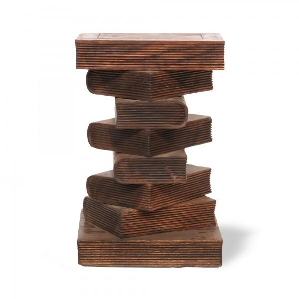8er Bücherstapel, natur, T 33 cm, B 33 cm, H 50 cm