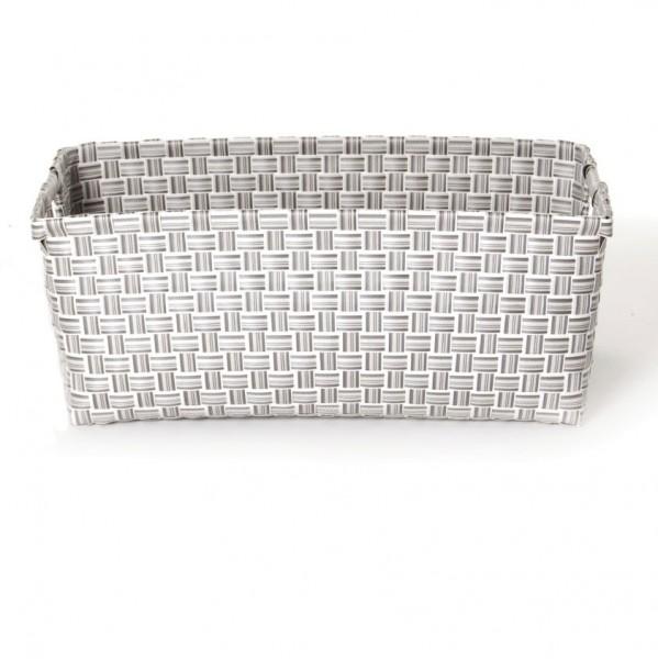 "Korb ""Loire"", weiß/grau, L 28 cm, B 40 cm, H 19 cm"