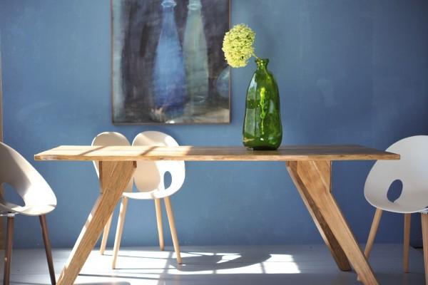 Tisch 'Berkson', aus massivem Akazienholz, braun, L 90 cm, B 180 cm, H 78 cm