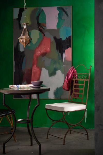 Mosaiktisch, oliv, Ø 60 cm, H 75 cm