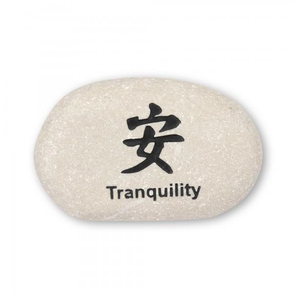 Flusskieselstein 'Tranquility', weiß, T 8 cm, B 8 cm
