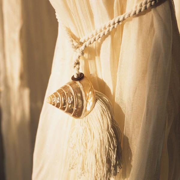 Troddel Muschel, weiß, L 53 cm