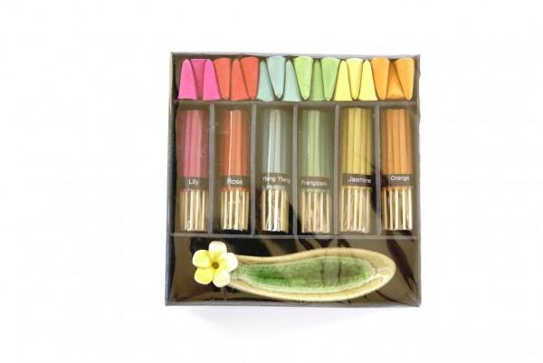 Räucher-Box, multicolor, T 16 cm, B 16 cm, H 3 cm