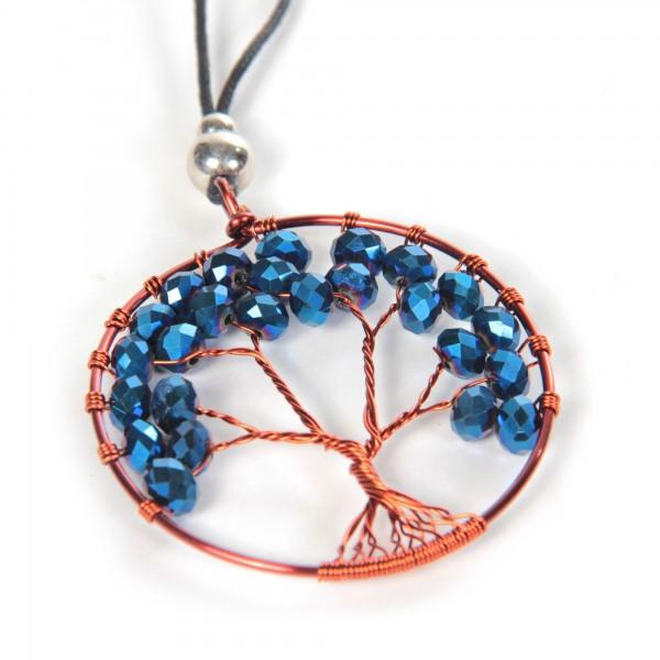 "Halskette ""Chintamani"", blau, Ø 6,5 cm, L 50 cm"