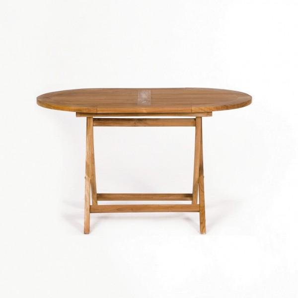 """Gartentisch """"Bornholm"""" aus massivem Teakholz, L 125 cm, B 75 cm, H 75 cm"""