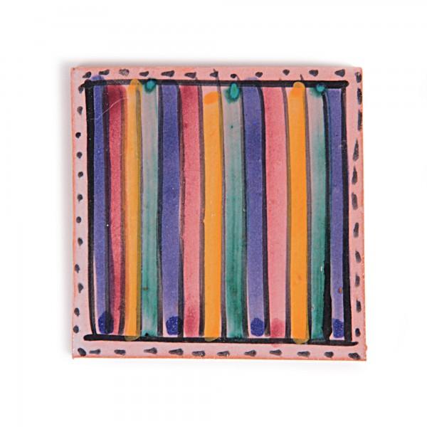 Fliese 'ligne coloré', multicolour, L 10 cm, B 10 cm