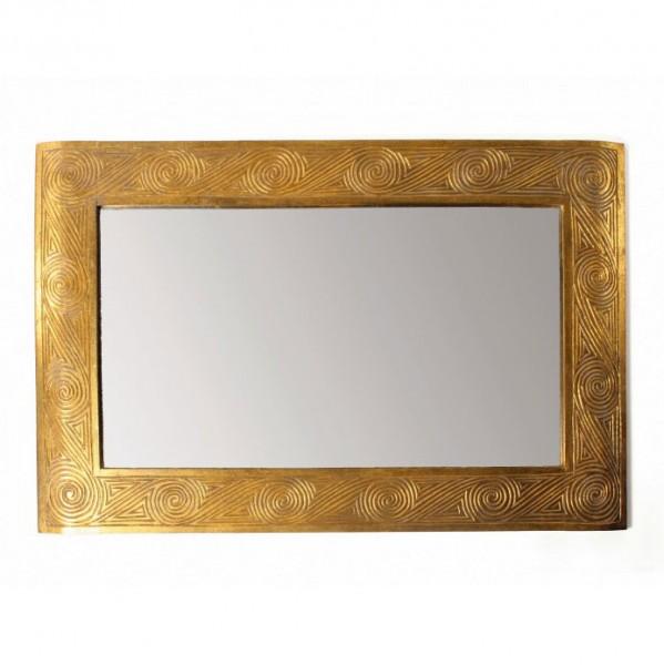 """Handgeschnitzter Holzspiegel """"Timor Style"""", B 90 cm, H 60 cm"""