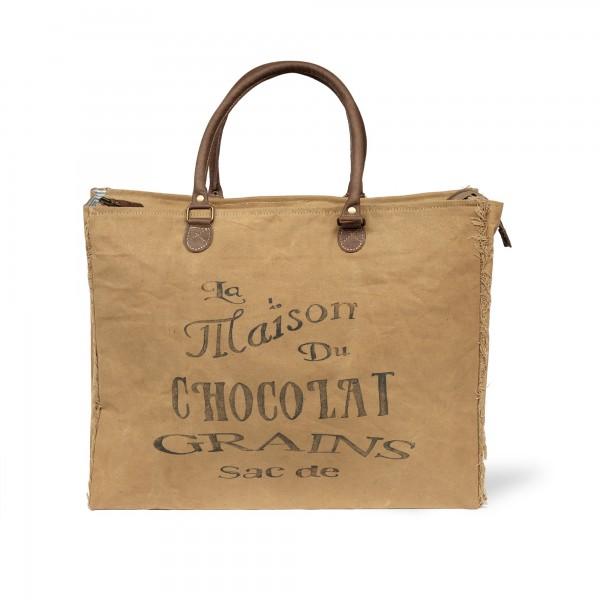 Umhängetasche 'Chocolat', beige, T 21 cm, B 50 cm, H 38 cm