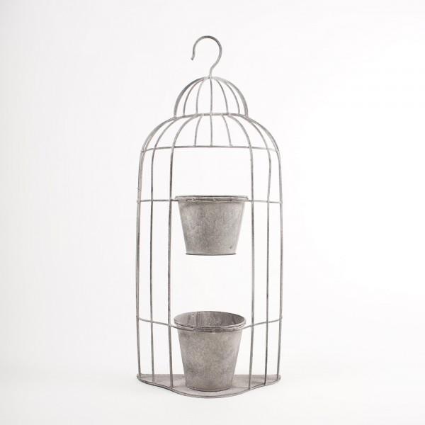 "Blumentopf ""Birdcage"", aus Metall"