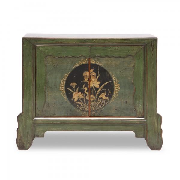 Schrank, 2 Türen, grün, T 42 cm, B 90 cm, H 70 cm