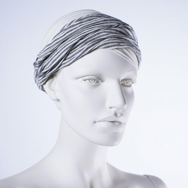 "Haarband ""San Francisco"", aus 100% Baumwolle, grau"