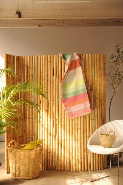 Bambuswand, heller Bambus, B 180 cm, H 180 cm