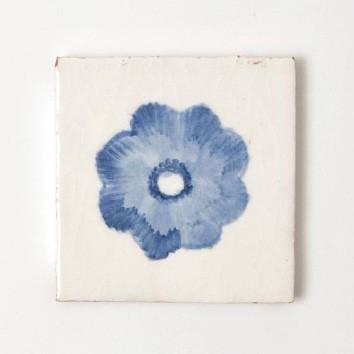 """Fliese """"myosotis"""", blau/weiß, L 10 cm, B 10 cm, H 1 cm"""