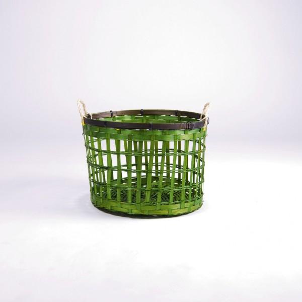 Bambuskorb M, grün, Ø 31 cm, H 21 cm