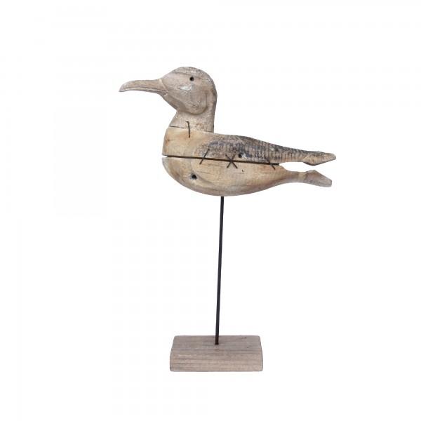 Vogel auf Ständer, natur, T 7 cm, B 21 cm, H 21 cm