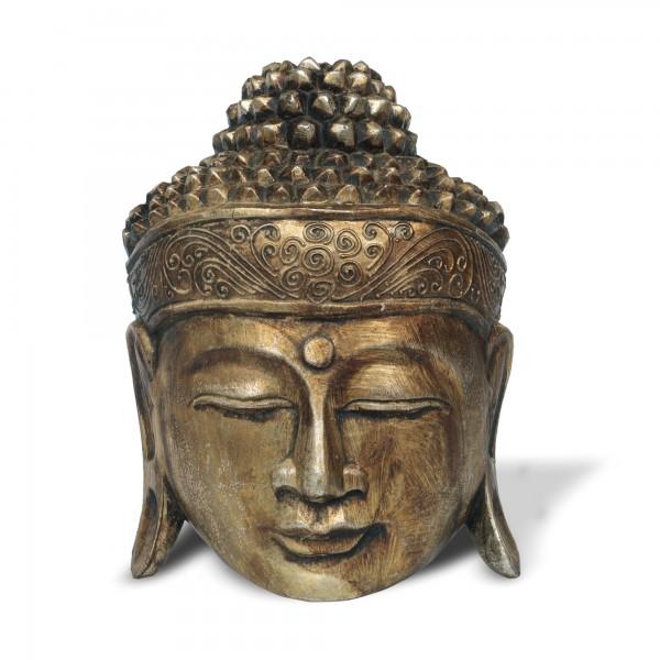 Buddha Maske, T 20 cm, B 10 cm, H 25 cm