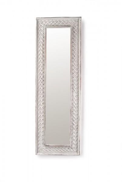 Spiegel 'Geflecht', natur, weiß, T 4 cm, B 46 cm, H 142 cm