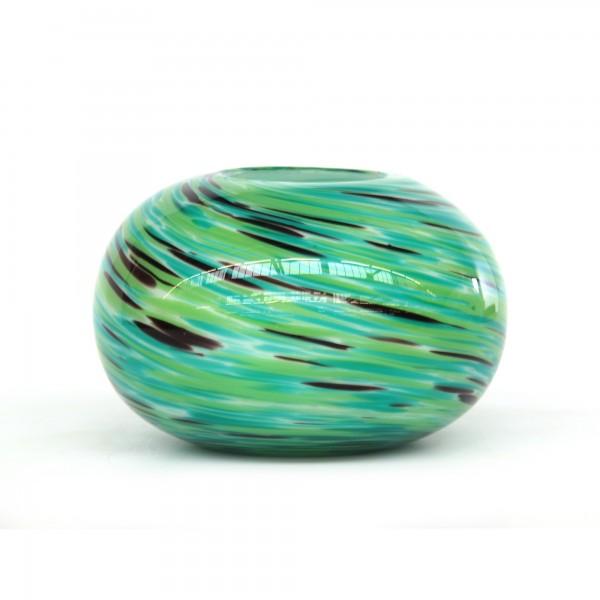 Glasvase oval, Ø 21 cm, H 14 cm