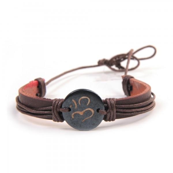 """Armband """"William"""", aus Leder, braun/schwarz"""