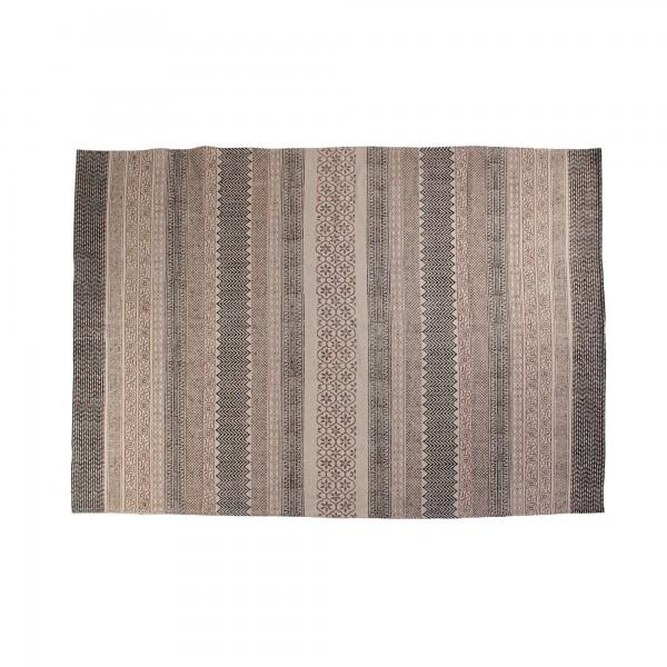 Teppich 'Mizoram', schwarz, braun, weiß, T 140 cm, B 200 cm