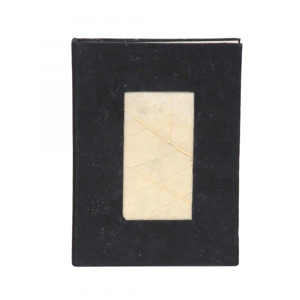 Notizbuch, schwarz, T 15 cm, B 11 cm, H 1,5 cm
