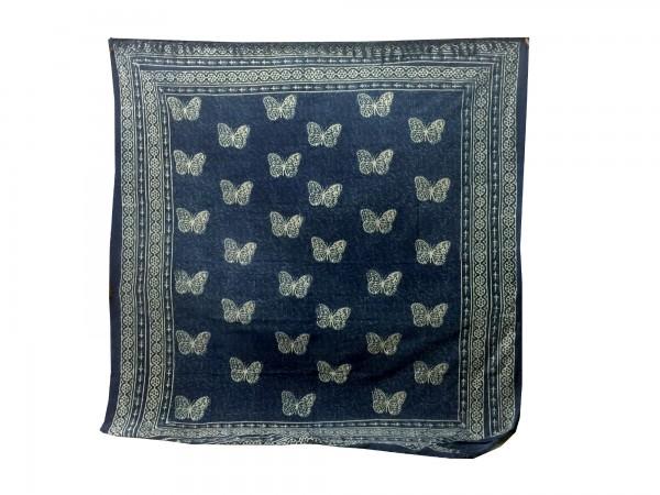 """Tagesdecke """"Butterfly"""", aus 100% Baumwolle, blau/weiß, L 210 cm, B 245 cm"""