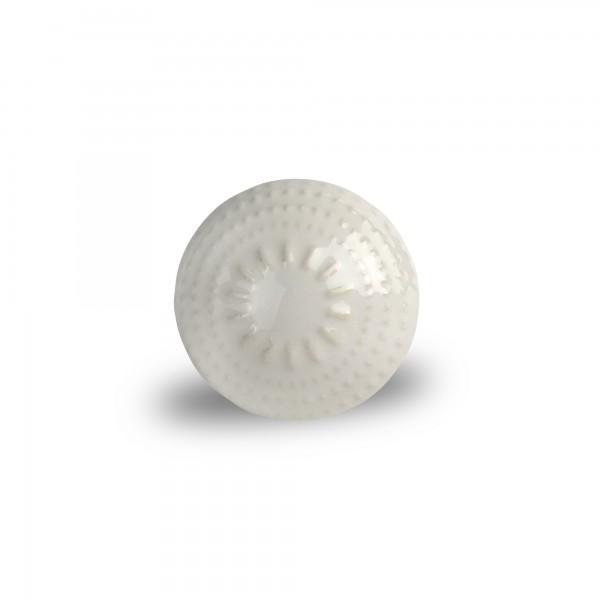 Keramik-Knauf 'Dotpoint', weiß, Ø 4 cm, H 2,5 cm