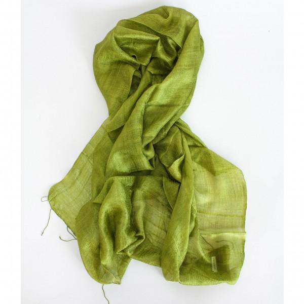 Seidenschal, hellgrün, L 170 cm, B 70 cm