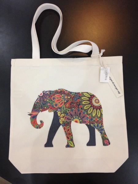 Stoffbeutel Elefant 'Chaba', braun, L 40 cm, B 9 cm, H 40 cm