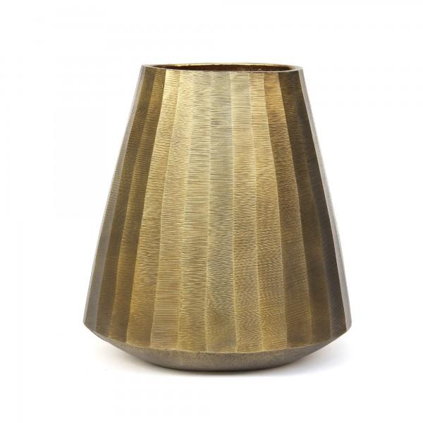 Vase 'Lisca', messing, T 23 cm, B 23 cm, H 24 cm