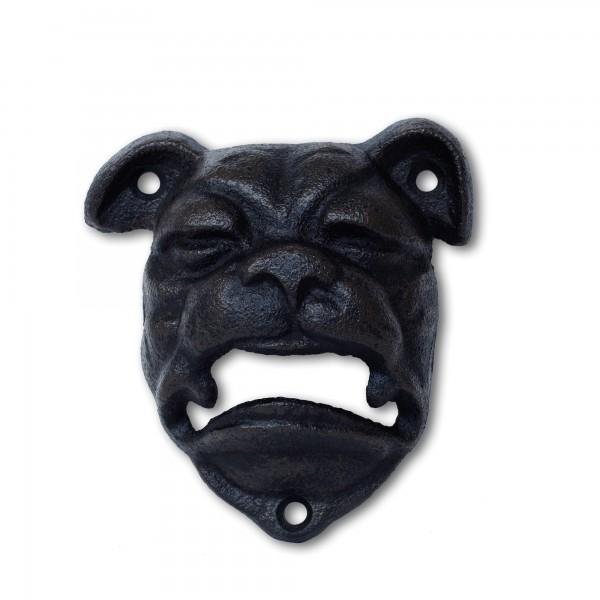 Flaschenöffner 'Bulldog', schwarz, T 4 cm, B 9,5 cm, H 10,5 cm