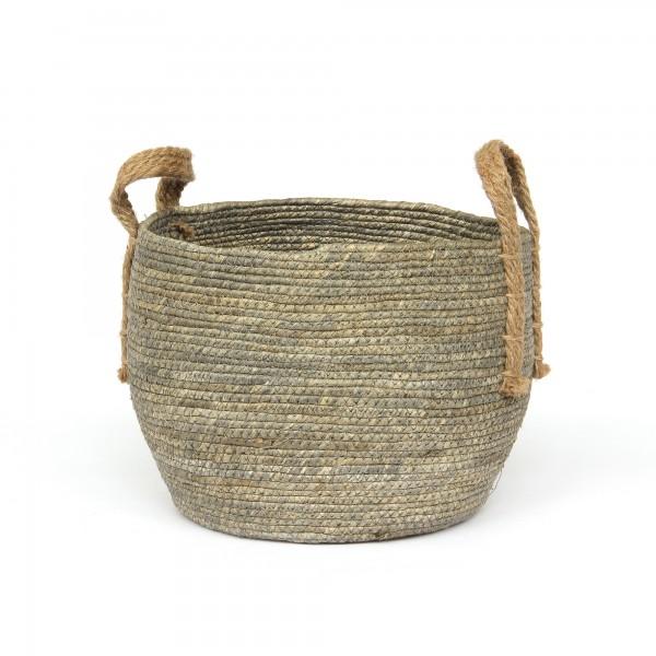 Korb 'Amatrice' M, schwarz, braun, Ø 28 cm, H 23 cm