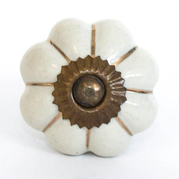 """Türknauf """"Blume"""", beige, Ø 4 cm"""
