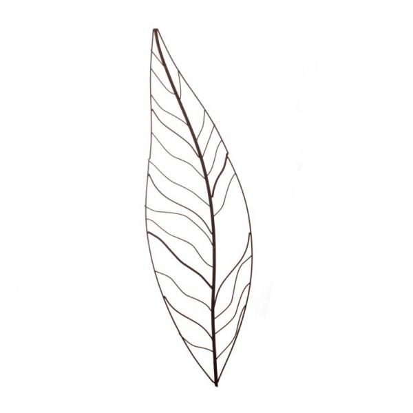 Gartenstecker 'Palmenblatt', klein, antik-rost, H 102 cm