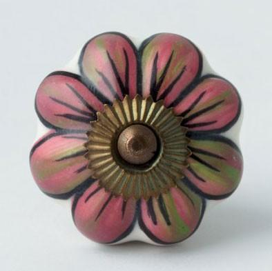 "Türknauf ""Blume"", pink, Ø 4,5 cm"