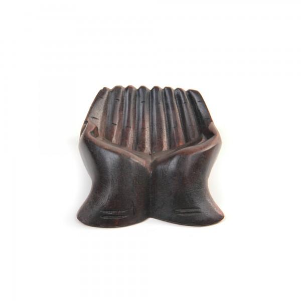 "Schale ""Hand Tidur M"", braun, L 14 cm, B 18 cm, H 6 cm"