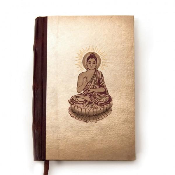 "Notizbuch ""Kitaba"", braun/beige, B 12 cm, H 18 cm"