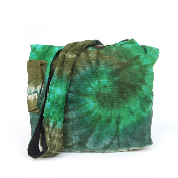 Umhängetasche Batik, grün
