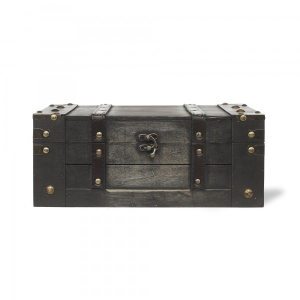 Koffertruhe 'Thoma' S, dunkelbraun, T 32 cm, B 19,5 cm, H 13 cm