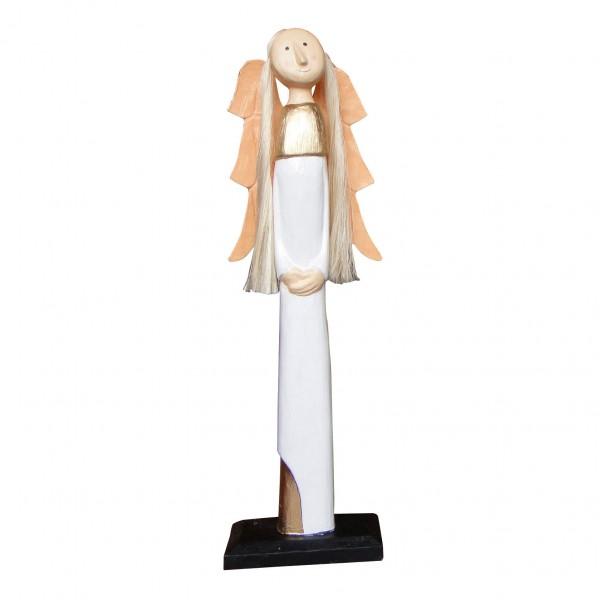 "Kerzenhalter ""Engel"", weiß, B 19 cm, H 64 cm"