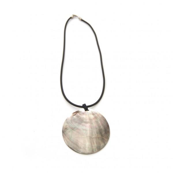 "Halskette ""Shell"", schwarz, L 45 cm, Ø 7 cm"